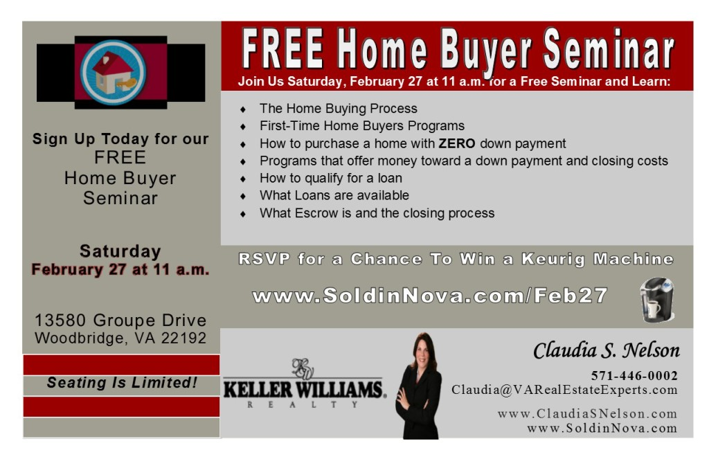 Home Buyer Seminar Feb 27