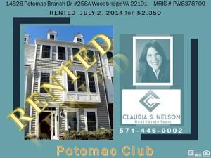 Potomac Club Realtor, 14828 Potomac Branch Drive #258A