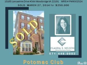 Potomac Club Realtor, 15165 Lancashire Drive #344
