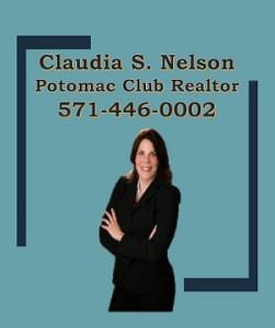 Potomac Club Realtor, Claudia S. Nelson 571-446-0002